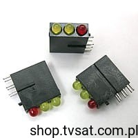 [10szt] LED 3mm Yellow/Yellow/Red 1882 MENTOR