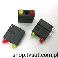 [10szt] LED 3mm Yellow/Red 1882 MENTOR