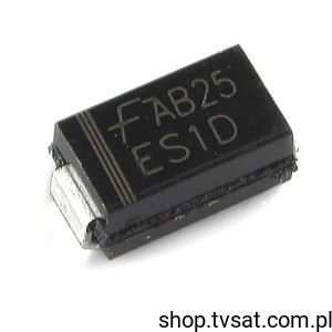 [100szt] Dioda Fast 200V 1A ES1D SMD-DO214AC FAIRCHILD