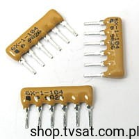 [200szt] 4606X-101-104 100k Network Resistor SIP6 BOURNS