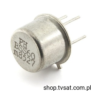 [2szt] Tranzystor PNP 45V 1A BSS60 TO39 PHILIPS
