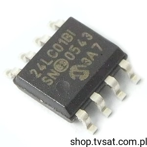 [10szt] IC EEPROM 1K -40/+85'C 24LC01BT-I/SN SMD-SO8 MICROCHIP