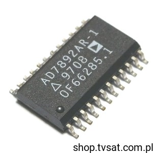 [1szt] IC 12Bit A/D AD7892AR-1 SMD-SO24L ANALOG
