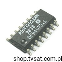[1szt] IC RS232 ADM3202ARN SMD-SO16 ANALOG