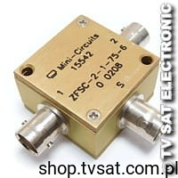 [1szt] Splitter 0.25-300MHz 75ohm ZFSC-2-1-75-6 MINI CIRCUITS